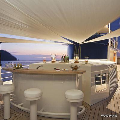 Seawolf Yacht Bridge Deck Bar
