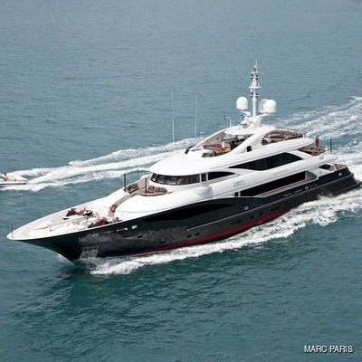 Liberty Yacht Aerial