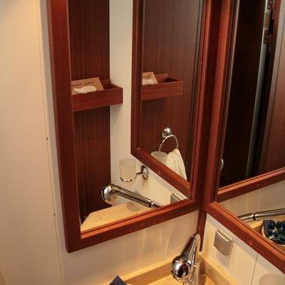 Kairos III Yacht Bathroom Detail