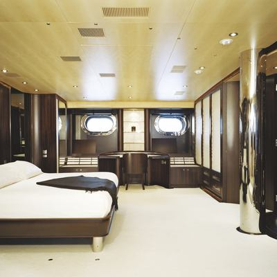 Parsifal III Yacht Master Stateroom - Side View