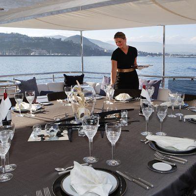 Talisman Maiton Yacht Bridge Deck Dinng