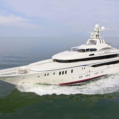 Lady Kathryn V Yacht Running Shot - Side View