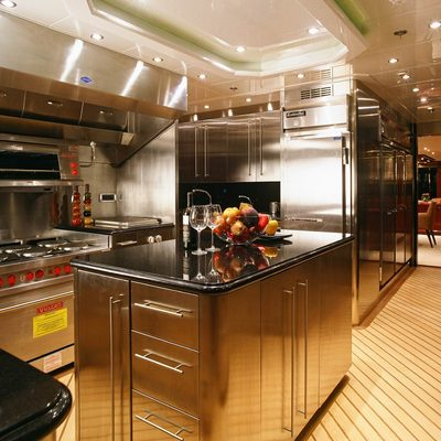 Lady Leila Yacht Galley