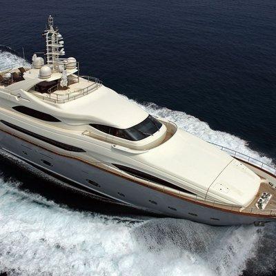 Libertas Yacht Running Shot - Aerial View