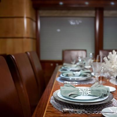 Just Enough Yacht Formal Dining Setting