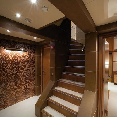 Princess Iolanthe Yacht Staircase
