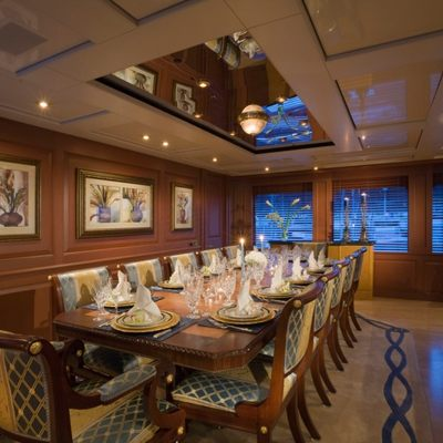 Queen D Yacht Dining Salon