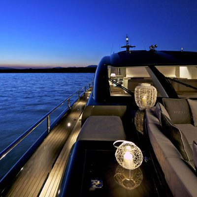 O'Pati Yacht Sundeck Side - Night