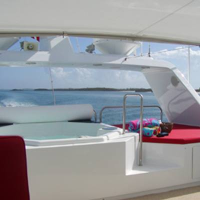 Murphy's Law Flybridge Jacuzzi