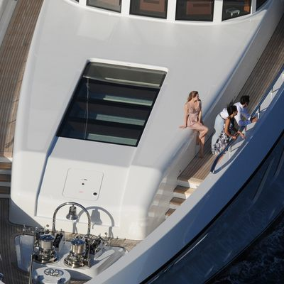Harle Yacht Aerial View - Bow