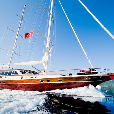Daima Yacht Running Shot - Profile