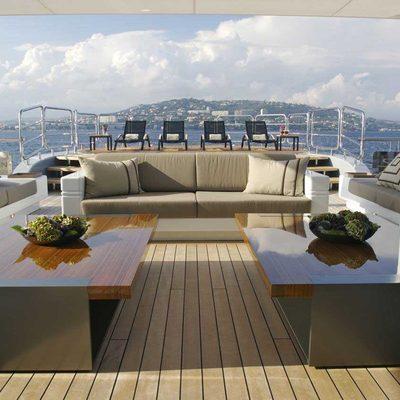 Siren Yacht Exterior Seating