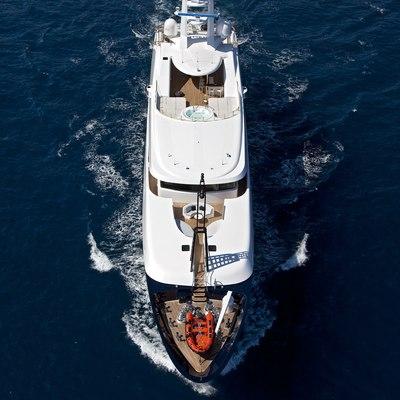 Baraka Yacht Running Shot - Overhead