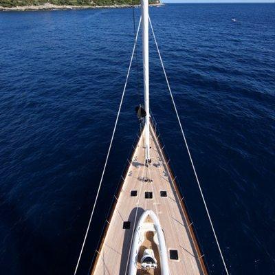 Marie Yacht Overhead - Bow