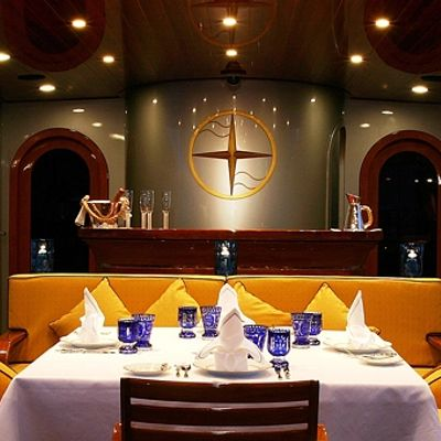 Andromeda la Dea Yacht Exterior Dining - Night