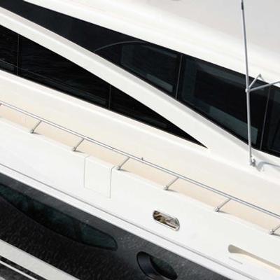 Antelope III Yacht Running Shot - Close