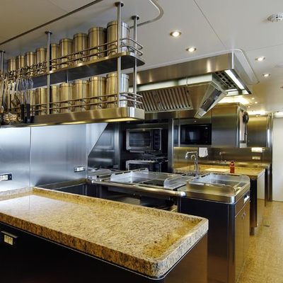 Athena Yacht Galley
