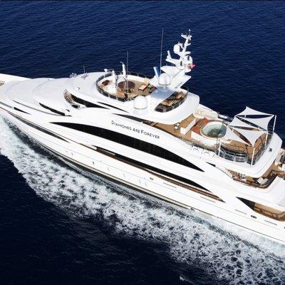 Diamonds Are Forever Yacht Running Shot - Aerial