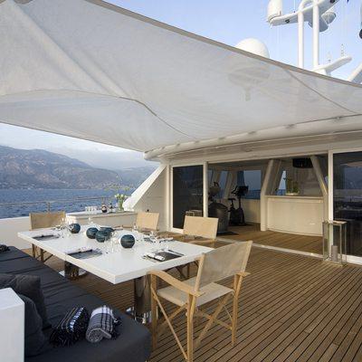 Cyan Yacht Sundeck Dining