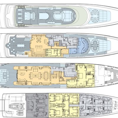 Andreas L Yacht Deck Plans