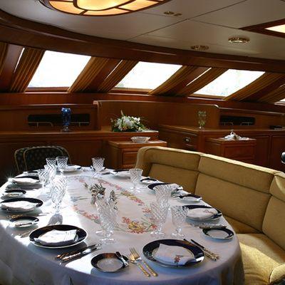 Andromeda la Dea Yacht Dining Salon