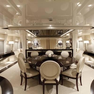 Vera Yacht Dining Area