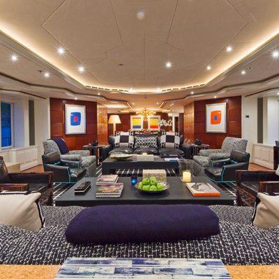 Diamond Yacht Main Saloon Forward View - Night
