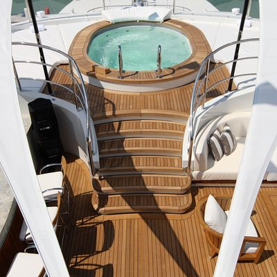 Seanna Yacht Stairs to Jacuzzi
