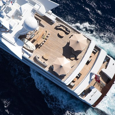Neom Yacht Aerial of Sundeck