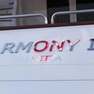 Harmony III Yacht Nameplate