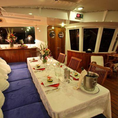 Douce France Yacht Cockpit dining