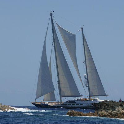 Andromeda la Dea Yacht Profile from Shore