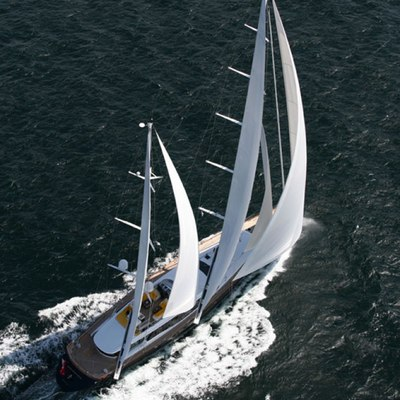 Q Yacht Aerial View