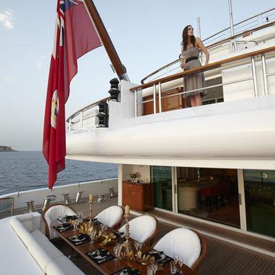 Pegasus VIII Yacht Aft Deck View