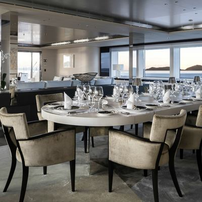 Nautilus Yacht Main Dining Room