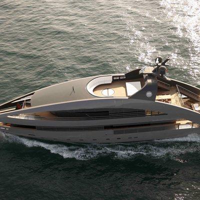 Ocean Pearl Yacht Running Shot - Side View