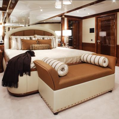 Diamonds Are Forever Yacht Stateroom - Bed