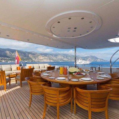 Hanikon Yacht Upper Aft Deck Dining