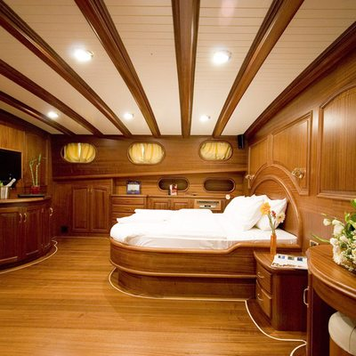 Take It Easier Yacht Master Stateroom - Side View