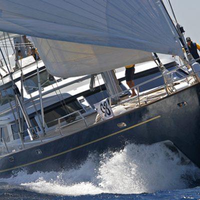 Andromeda la Dea Yacht Running Shot - Bow
