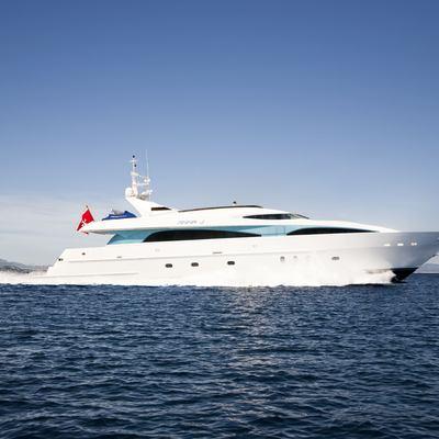 Strega Yacht Running Shot - Side View