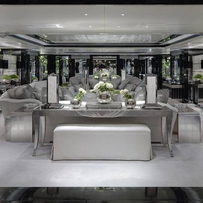 Silver Angel Yacht Interior Seating