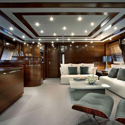 Libertas Yacht Upper Salon - Side View