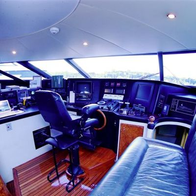 Palm B Yacht Pilothouse