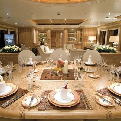 Deja Too Yacht Dining Salon