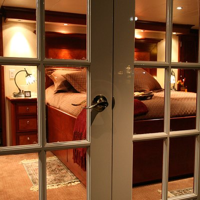 Kayana Yacht View into Master Stateroom