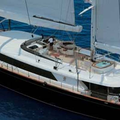 Parsifal III Yacht Aerial Deck View