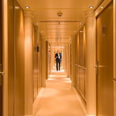 Elegant 007 Yacht Corridor