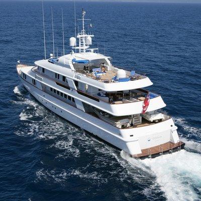 Lady Ellen II Yacht Running Shot - Rear View