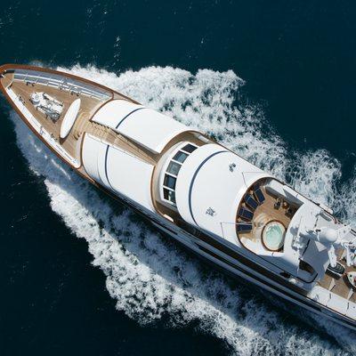 Teleost Yacht Running Shot - Aerial